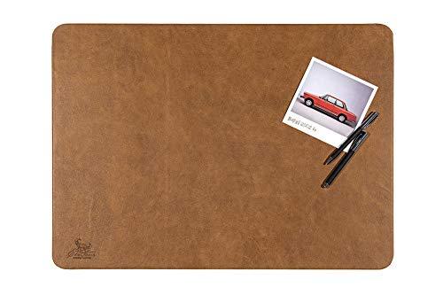 Centaur Schreibtischunterlagen 50x70 cm handgefertigt in Deutschland Schreibunterlage aus Leder Ecken abgerundet rutschfest braun cognac vintage weitere Farben & Größen