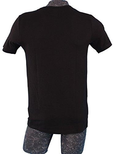 Lacoste Underwear Herren T-Shirt Lacoste V/N TEE (DPK), 2er Pack Schwarz (schwarz 000)