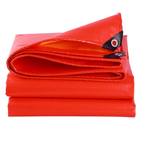 Plane Baldachin Zelt Heavy Duty rot und gelb Tarps Ground Tent Trailer Cover Heavy Duty Tarps Camping Plane Outdoor Regen Abdeckungen Drop Tücher für Yard Abfall Schatten Backpacking Camping Shelter S