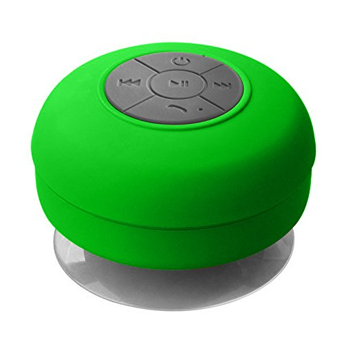 Knotyy Wireless Bluetooth Speaker With Built-in Mic, 3W Waterproof Bluetooth Speaker With Rechargeable Battery And Dedicated Suction Cup For Indoor And Outdoor Use (BS-002)