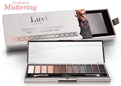 Luvia Profi Lidschatten Palette - Smokey Eyes - Eyeshadow Palette - Inkl. 12 Matten & Schimmernden Nuancen - Limitierte Geschenkbox zum Valentinstag