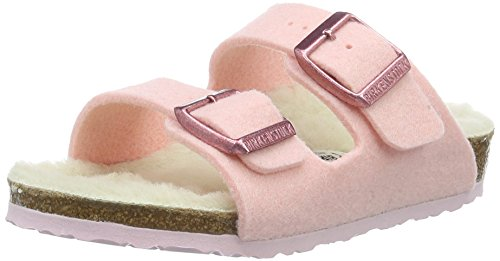 Birkenstock Kids Mädchen Arizona Pantoletten, Pink (Rose), 27 EU