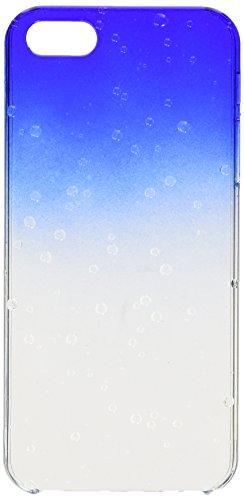 iCues Apple iPhone SE / 5S / 5    Wassertropfen Case Türkis   [Display Schutzfolie Inklusive] Transparent Klarsichthülle Durchsichtig Klare Klarsicht Schutzhülle Hülle Cover Schutz Blau