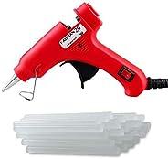 Fadman Mini Plastic 20 Watt Hot Melt Glue Gun with 15 Adhesive Transparent Sticks (Red)