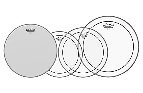 """Remo 12"""" 13"""" 16"""" Pinstripe Clear Set PLUS 14"""" Coated (3er Set für Toms mit den Größen: 12"""" / 13"""" / 16"""", 14"""" Ambassador Coated Snare Drum Fell)"""