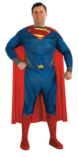 Klassisches Superman Man of Steel-Kostüm für Herren Große Größe