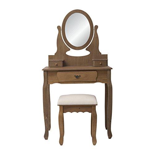mobili rebecca® mobile da trucco toeletta specchiera make up ... - Toilette Provenzale Con Specchio E Sgabello