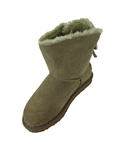 Oog Damen Leder Boots Stiefel Teddy Fell Blogger Schlupfstiefel Neue Farben (38, Haselnuss)