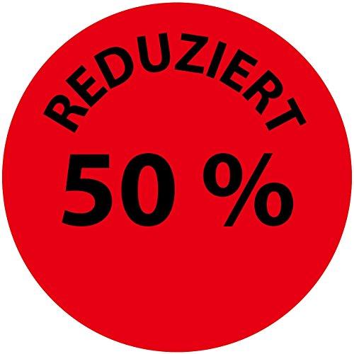 LabelOcean(R), LO-PR-PA-3050-2-100, 100 Promotion Etiketten, Sonderpreisetiketten, Aktionsetiketten - Aufkleber, Rabattaufkleber, 2 cm auf Rolle, selbstklebend, aus Papier matt