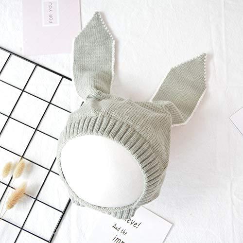 ChildHat 2018 Hut für Kinder,Kinder Hut Hase Ohren Wolle Hut Baby handgefertigte Strickmütze Kinder, grau, 5 Monate ~ 3 Jahre alt