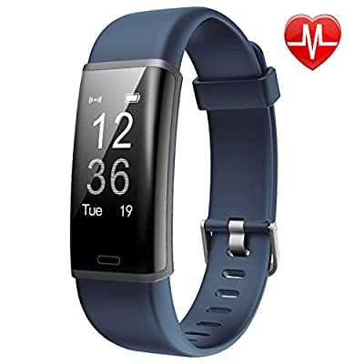 Lintelek Fitness Trackers, Smart Watch Fitness Watch Activity Tracker, Pedometer Sports Bracelet with 24-hour Heart Rate Monitor, 14 Sports Modes for Kids, Men and Women