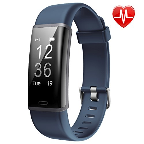 Lintelek Fitness Trackers, Smart Watch GPS Tracker Activity Watch, Pedometer Smart Bracelet Wristband with 24-hour Heart Rate Monitor for Android and iOS Phones