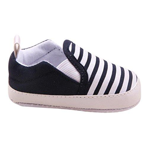 Tefamore Fringe pour bébé Berceau Soft Sole Chaud Marcheur Chaussures Noir