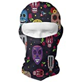 Vidmkeo Halloween Grunge Pattern Skull Pumpkin Bat Full Face Masks UV Balaclava Hood Ski Headwear Motorcycle Neck Warmer Tactical Hood for Cycling Outdoor Sports Hiking New15