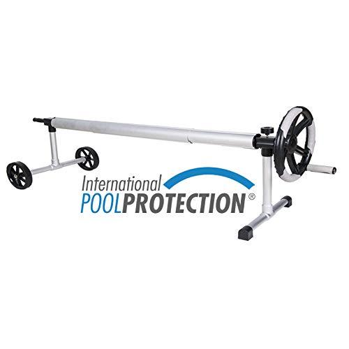 International Pool Protection Aufroller aus Edelstahl Ausziehbar für Pools bis zu 3,80 Meter Breite mit Rohr von 80 mm Ø