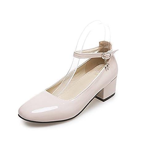 BalaMasa Apl10011, Sandales Compensées femme - beige - abricot,