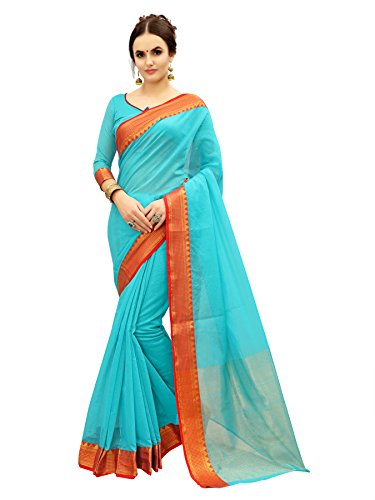 Glory Sarees Women's Cotton Silk Saree(silk103firoji_firoji)