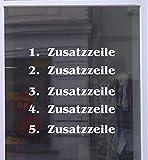 Don Cappello Zusatzzeilen für Öffnungszeiten 1 Zeile 2 Zeilen 3 Zeilen 4 Zeilen 5 Zeilen 1 Zeile