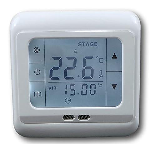 SM-PC®, Raumthermostat Thermostat programmierbar Touchscreen #832 Digital weisse