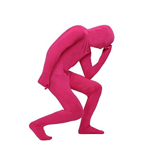 Tiaobug Morphsuits Ganzkörperanzug Ganzkörper Anzug Suit Herren Catsuit Komplett Zentai Zweite Haut Fasching Kostüm Rose ()