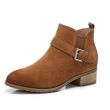 RTRY Scarpe Da Donna In Pelle Nubuck Autunno Inverno La Moda Stivali Stivali Per Casual Nero Marrone US7.5 / EU38 / UK5.5 / CN38