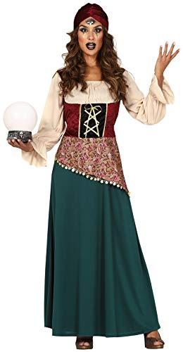 Damen Fortune Teller Gypsy Zirkus Karneval TV Film Halloween Kostüm Outfit UK 8-16