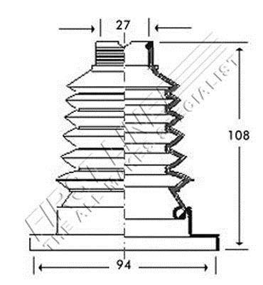 First Line FCB2788 Joint-soufflet, arbre de commande