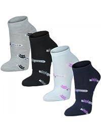 12 Paar Socken im Karostyle für Damen schwarz//weiß//grau Qualität von Lavazio®