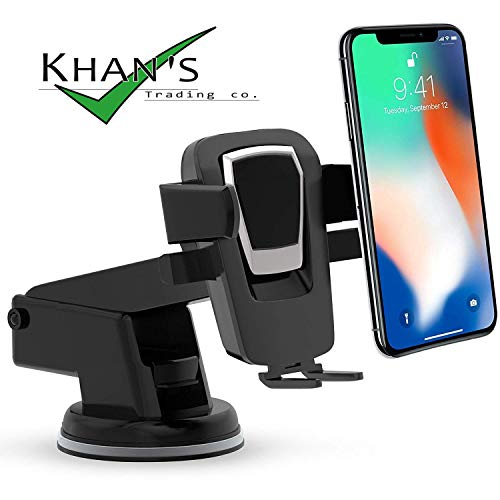 KHAN's Car Mobile holders,Best phone Mount holder stand in car accessories for dashboard.Universal Smartphone Car Air Vent Mount Holder Compatible with iPhone X 8 8 Plus 7 7 Plus SE 6s 6 Plus 6 5s 5 4s 4 Samsung Galaxy S6 S5 S4 LG Nexus Sony Nokia