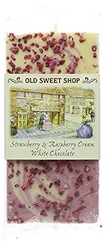 Farrah's of Harrogate Strawberry and Raspberry Cream White Chocolate Bar
