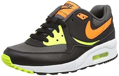 Nike Air Max Light (gs), Sneakers Basses Mixte Enfant - Gris (dark Grey/total Orange/vlt/blk), 37.5 EU