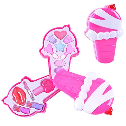 CyCspriqh Lovely Girls Ice Cream Shape Make up Cosmetics Game Pretend Play Nail Polish Toy