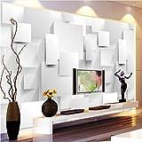 Mddjj Moderne Minimalistische 3D Stereo Geometrie Cube Wandbild Tapete Wohnzimmer Büro Modische Interieur Tapete Für Wände 3D - HD-Druck - Modern dekorativ - Natur-120X100cm