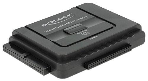 Delock 61486 Konverter USB 3.0 zu SATA 6 Gb/s / IDE 40 Pin / IDE 44 Pin mit Backup Funktion (Ide Zu Usb)