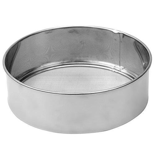 Silber Edelstahl Mehlsieb Zuckersieb Backsieb Sieb Mehl Passiersieb Küchensieb