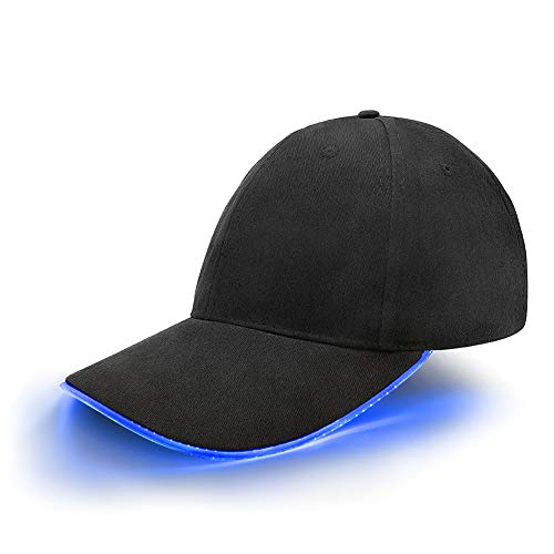 LED base Cap con visiera regolabile e cappello baseball Blitz chepì con LED lampeggiante per Party Club Bar sportivo viaggio tour sport Golf Hip Hop illuminata a LED, LED della lampada
