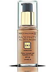 Max Factor All Day Flawless 3 in 1 Foundation 85 Caramel, 1er Pack (1x 30 ml)
