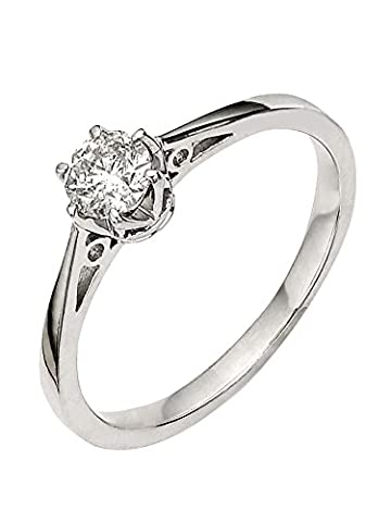 premium 1/6 carat diamond solitaire engagement ring Size M