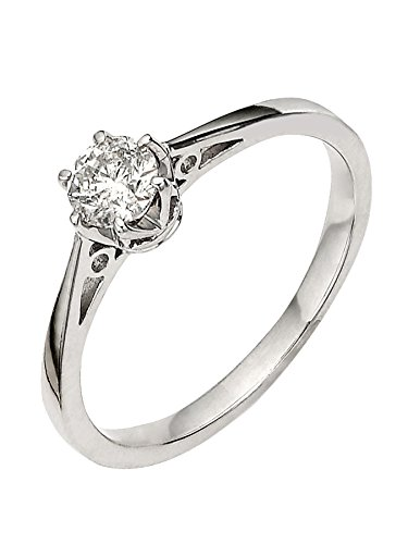 premium 1/6 carat diamond solitaire engagement ring