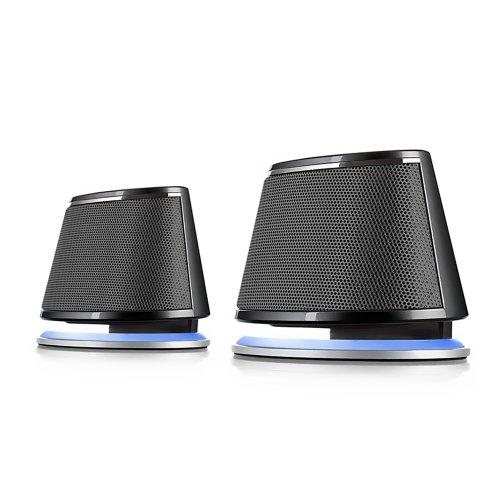 Satechi Duale Sonic Lautsprecher, 2.0 Kanal-Computerlautsprecher für Apple Macbook Pro, Air / Asus / Acer / Samsung / Dell/ Toshiba / HP / Sony Vaio und andere (Schwarz) Mac Boom Pro