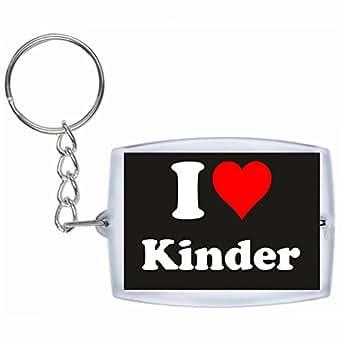 Porte-clés I Love Kinder en Noir| grande idée de cadeau pour toute occasion!