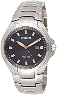 Citizen Mens Solar Powered Watch, Analog Display and Stainless Steel Strap BM7431-51H