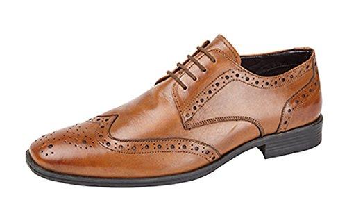 Route 21 , Chaussures de ville à lacets pour homme peau