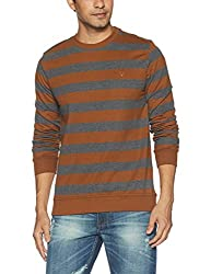 Allen Solly Mens Cotton Sweatshirt (AMST517G01520_Gold Skin +Anthra Melange_XX-Large)