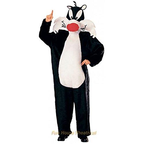 Kostüm Eine Tweety Bird - Offizielles Kater Sylvester Kostüm für Erwachsene Karneval Fasching Verkleidung