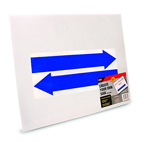 Stake Sign, Blank White, Includes Directional Arrows, 15 x 19, Sold as 1 Each