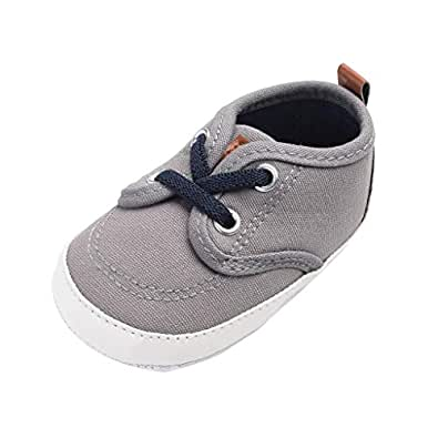 Boomboom Baby'Shoes Baby Boys Girls Canvas Toddler Sneaker Soft Sole Infant Prewalker Toddler Sneaker Shoes 0-24 Months Dark Gray 11
