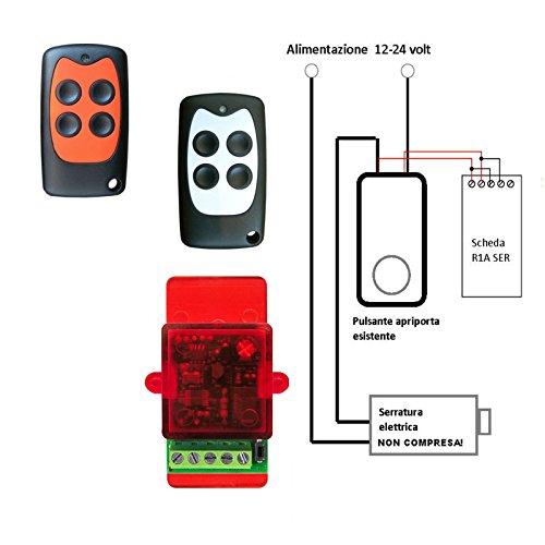 Pack 2 mandos a distancia abrepuertas con electrocerradura eléctrica de 12 a...