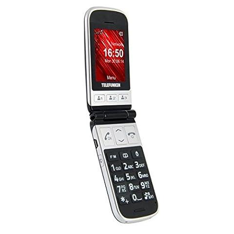 Telefunken TM 230 COSI Téléphone Mobile Clapet Actif Noir