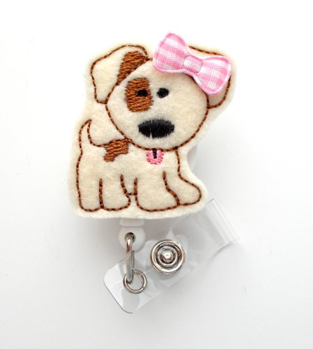 Frau Patch the puppy-Cute Badge Holder-Krankenschwestern Badge Holder-Filz Badge Holder-Still Badge Holder-Cute Badge Reel-RN Badge Reel-Lehrer Badge-Badge Clip-Badge Pull